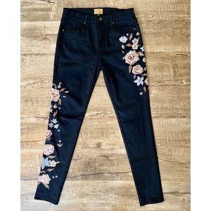 Driftwood Jackie Black Floral Embellished Jeans 27